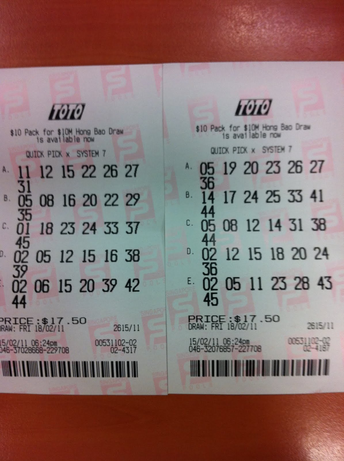 HEALTH INFORMATION SERVICES: The $10M TOTO Winning Ticket Numbers